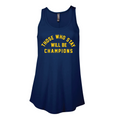 Those Who Stay Ladies Delta Flowy Tank - Harbor Blue
