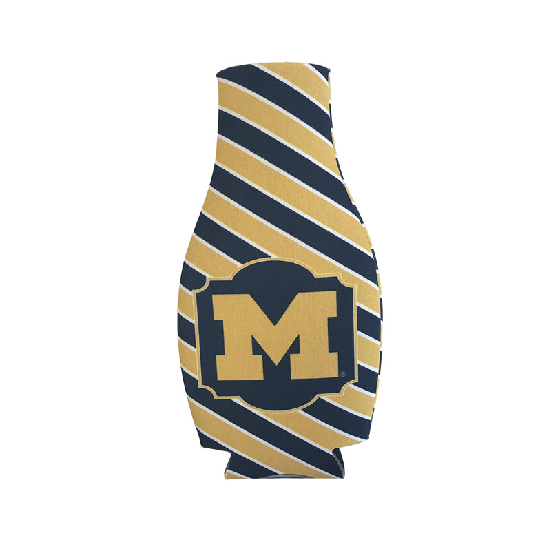 Michigan Bottle Hugger – Stripes - Navy/Maize
