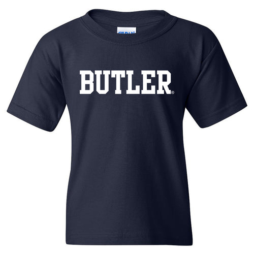 Butler University Bulldogs Basic Block Youth Short Sleeve T Shirt - Navy