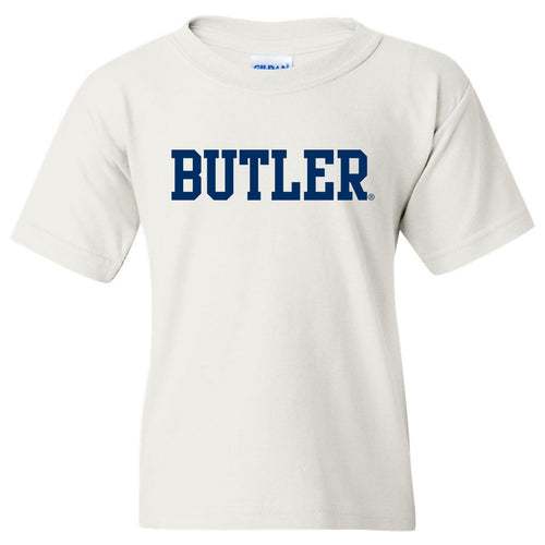 Butler University Bulldogs Basic Block Youth Short Sleeve T Shirt - White