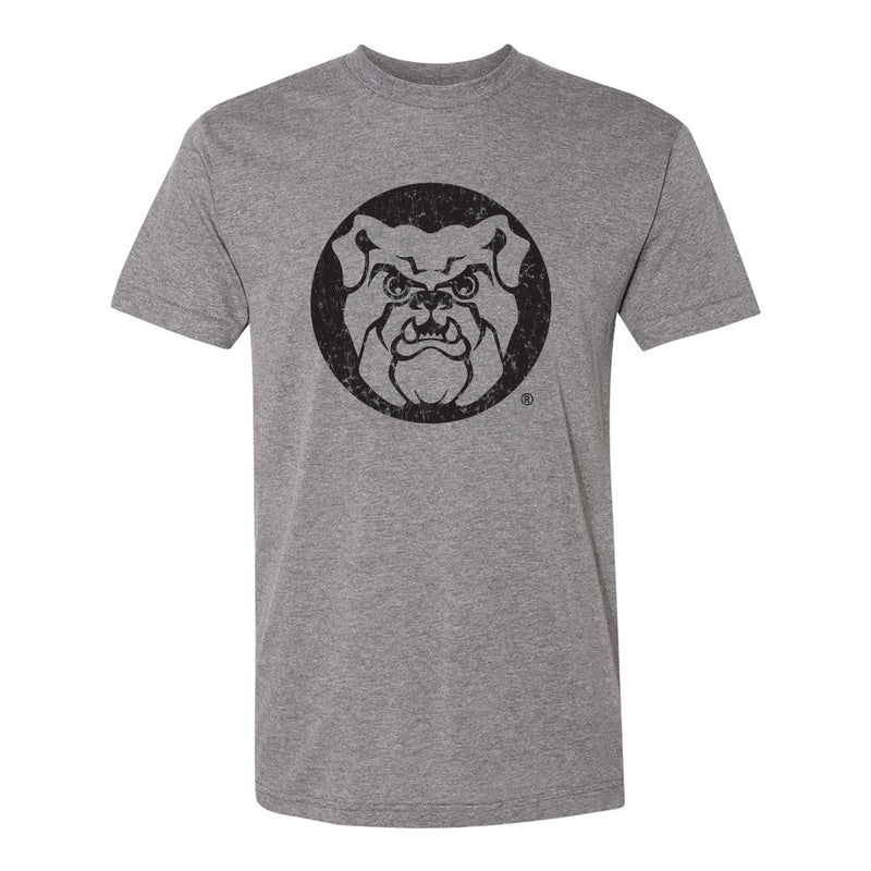 Butler University Bulldog Distressed Logo American Apparel Short Sleeve T Shirt - Athletic Grey