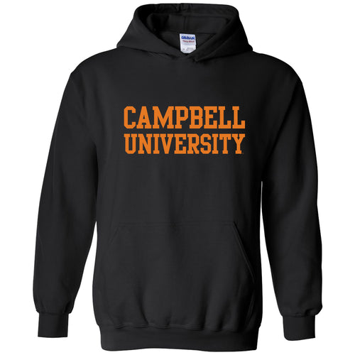 Campbell University Fighting Camels Basic Block Heavy Cotton Hoodie - Black