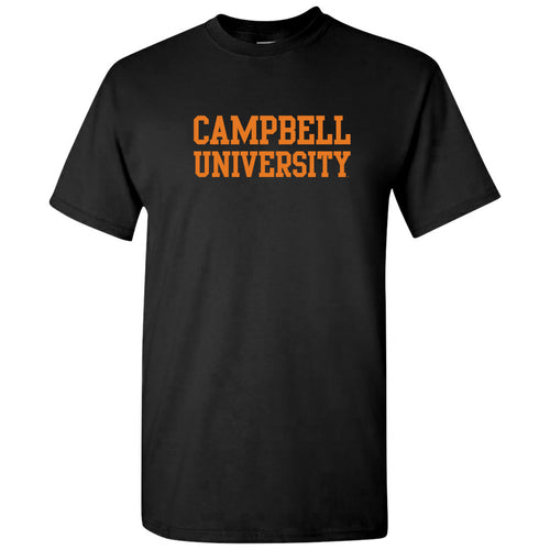 Campbell University Fighting Camels Basic Block Cotton Short Sleeve T-Shirt - Black