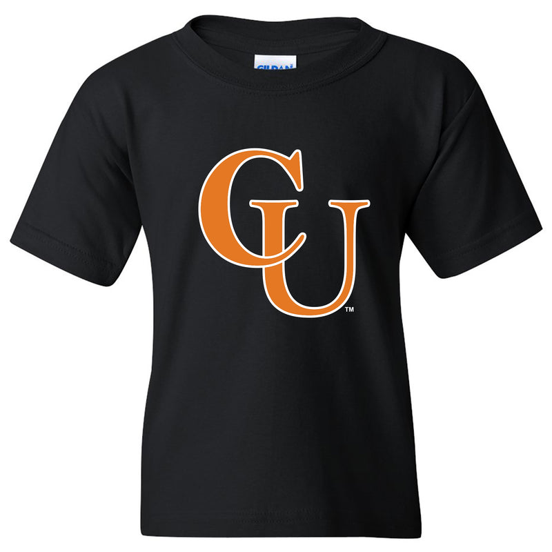 Campbell University Fighting Camels Primary Logo Basic Cotton Youth Short Sleeve T-Shirt - Black