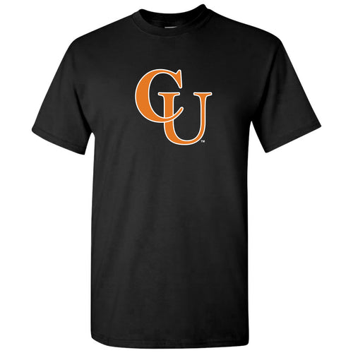 Campbell University Fighting Camels Primary Logo Basic Cotton Short Sleeve T-Shirt - Black