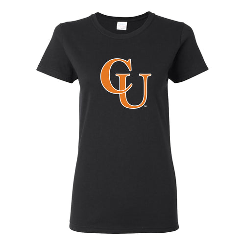 Campbell University Fighting Camels Basic Cotton Women's Short Sleeve T-Shirt - Black