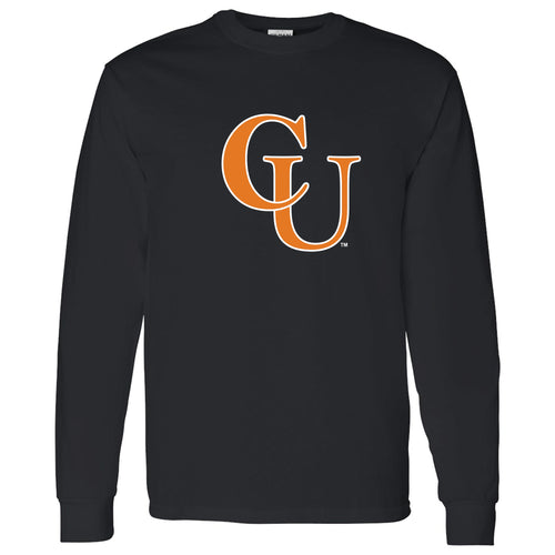 Campbell University Fighting Camels Primary Logo Basic Cotton Long Sleeve T-Shirt - Black