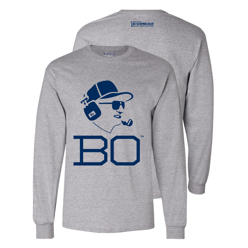 Bo Schembechler Headset Champion Long Sleeve - Light Steel