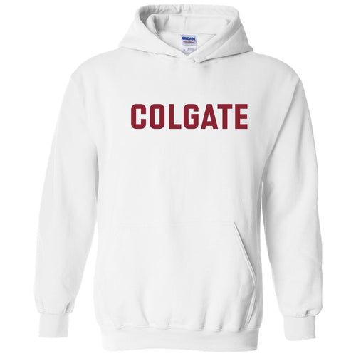 Colgate University Raiders Basic Block Heavy Blend Hoodie - White