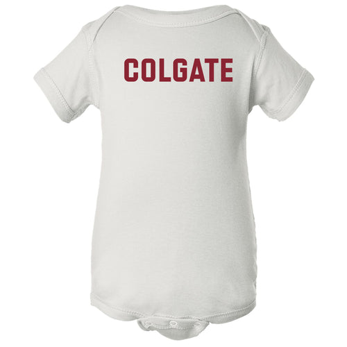 Colgate University Raiders Basic Block Infant Creeper - White