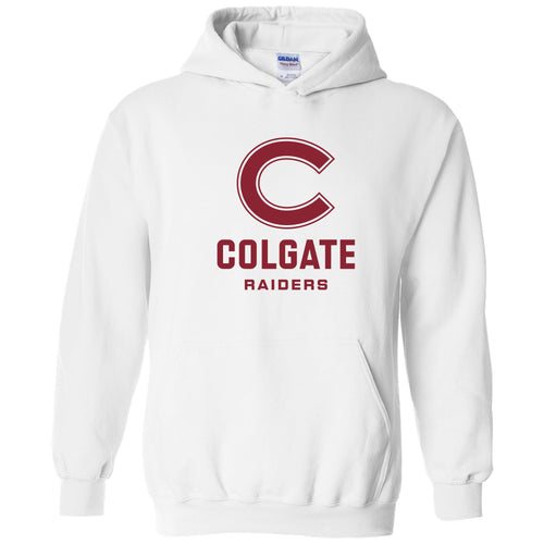 Colgate University Raiders Primary Logo Heavy Blend Hoodie - White