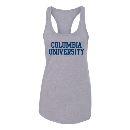 Columbia University Lions Basic Block Womens Racerback Tank - Heather Grey