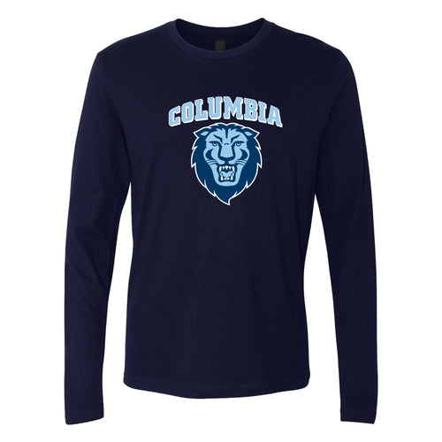 Columbia University Lions Arch Logo Next Level Long Sleeve T Shirt - Midnight Navy