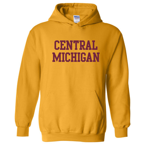 Central Michigan University Chippewas Basic Block Hoodie - Gold