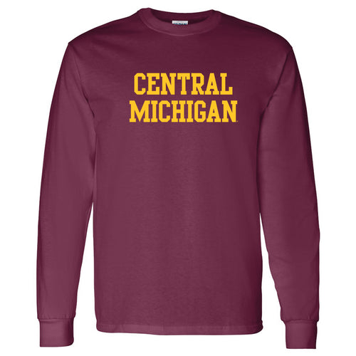 Central Michigan University Chippewas Basic Block Long Sleeve - Maroon