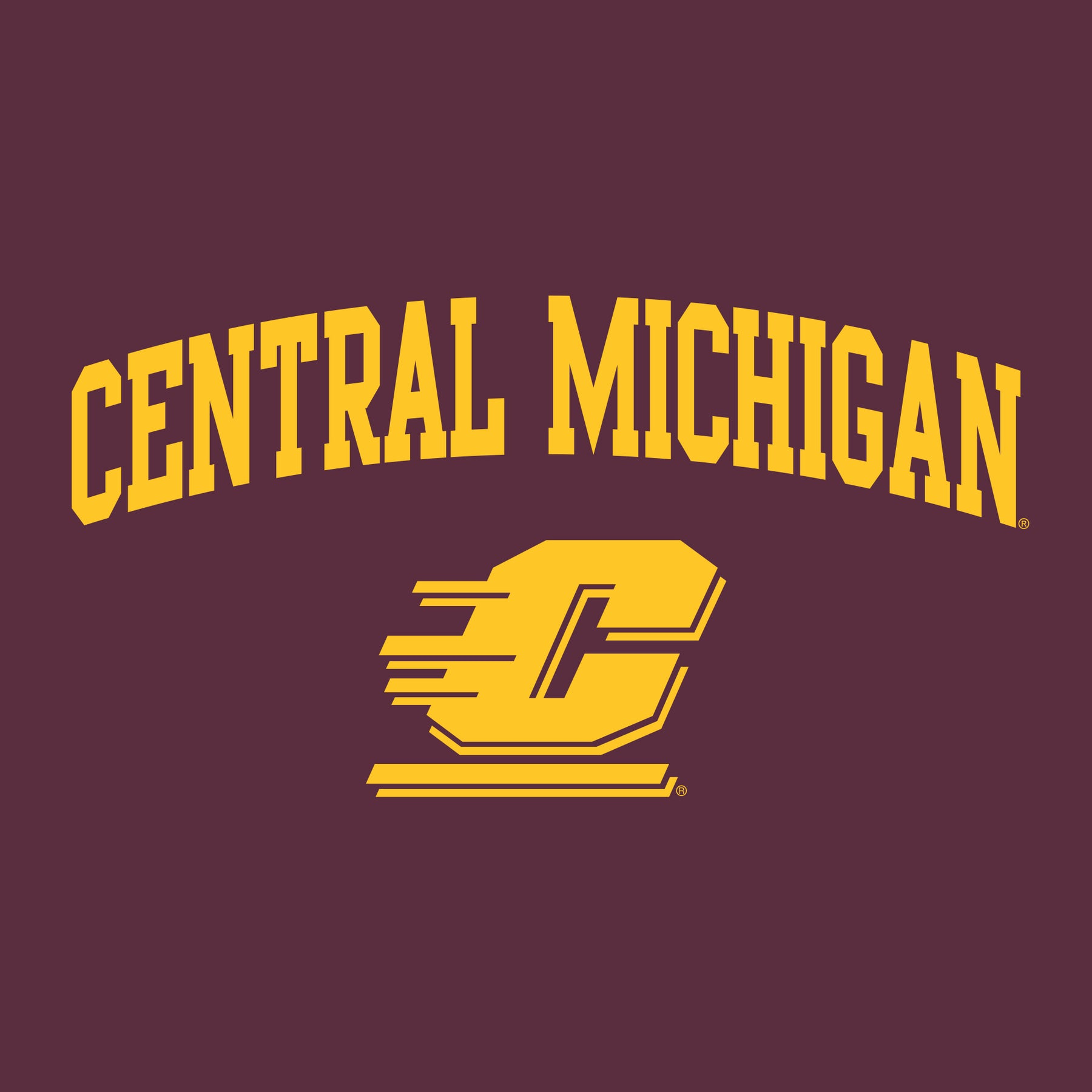 Central Michigan Chippewas Maroon Structured Short All Over Logo