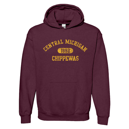 Central Michigan University Chippewas Athletic Arch Hoodie - Maroon