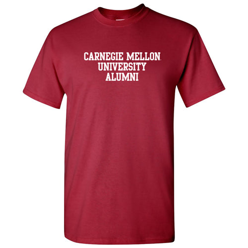 Carnegie Mellon University Tartans Basic Block Alumni Short Sleeve T Shirt - Cardinal
