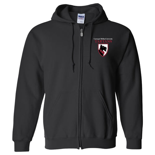 Carnegie Mellon University Tartans Primary Logo Full-Zip Hoodie - Black