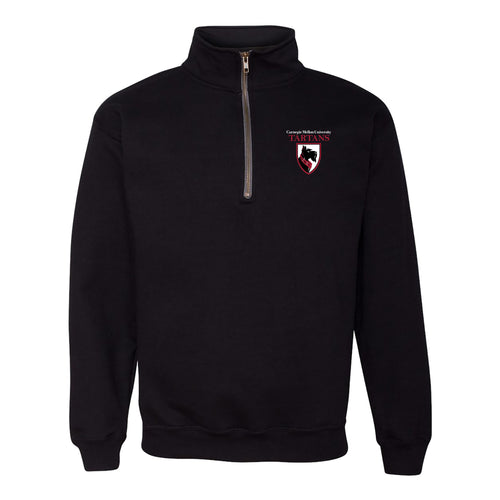Carnegie Mellon University Tartans Primary Logo Left Quarter-Zip Sweatshirt - Black