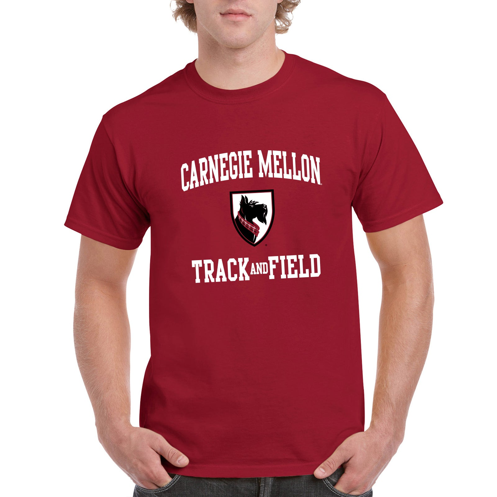 finest selection aebe0 d45d8 Carnegie Mellon University Tartans Arch Logo Track & Field Short Sleeve T  Shirt - Cardinal