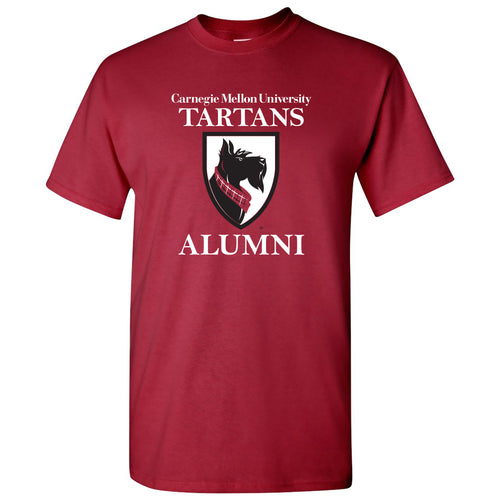 Primary Alumni Carnegie Mellon University Tartans Basic Cotton Short Sleeve T Shirt - Cardinal