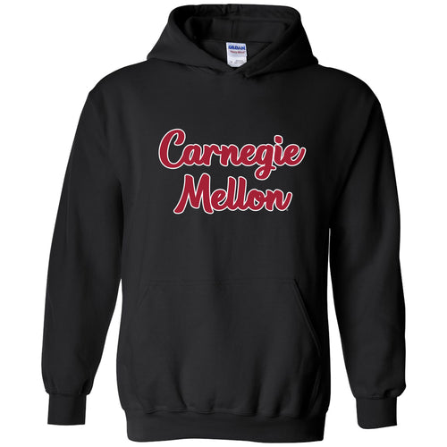 Carnegie Mellon Tartans Basic Script Heavy Blend Hoodie - Black
