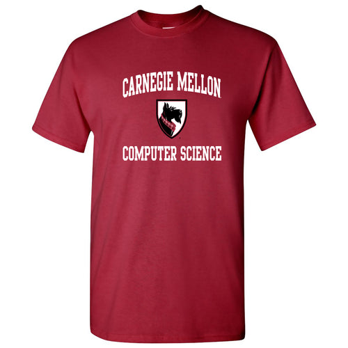 Carnegie Mellon University Tartans Arch Logo Computer Science Short Sleeve T Shirt - Cardinal