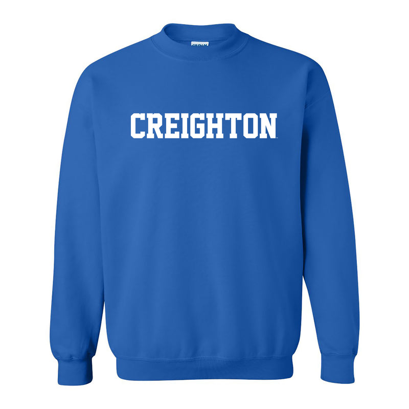 Creighton University Bluejays Basic Block Crewneck Sweatshrit - Royal