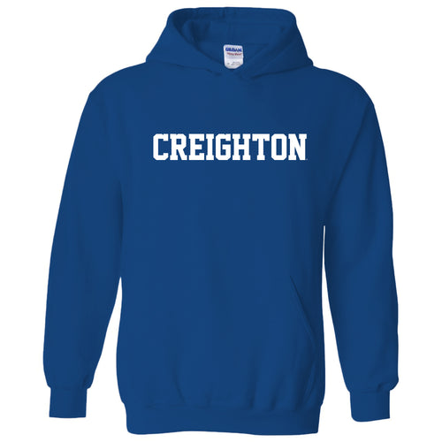Creighton University Bluejays Basic Block Heavy Blend Hoodie - Royal