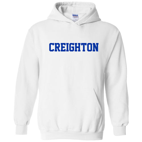 Creighton University Bluejays Basic Block Heavy Blend Hoodie - White