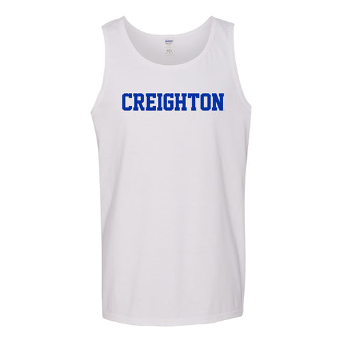 Creighton University Bluejays Basic Block Tank Top - White