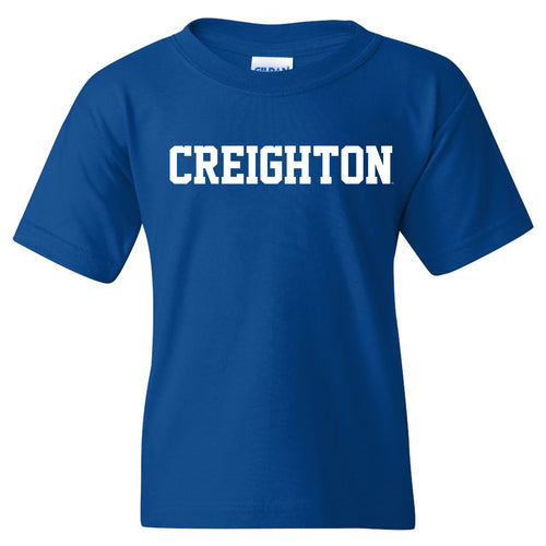 Creighton University Bluejays Basic Block Youth Short Sleeve T Shirt - Royal