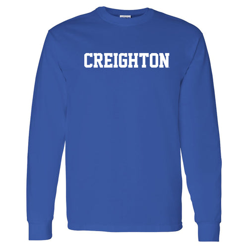 Creighton University Bluejays Basic Block Long Sleeve T Shirt - Royal