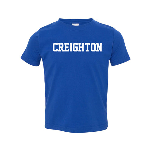 Creighton University Bluejays Basic Block Toddler Short Sleeve T Shirt - Royal