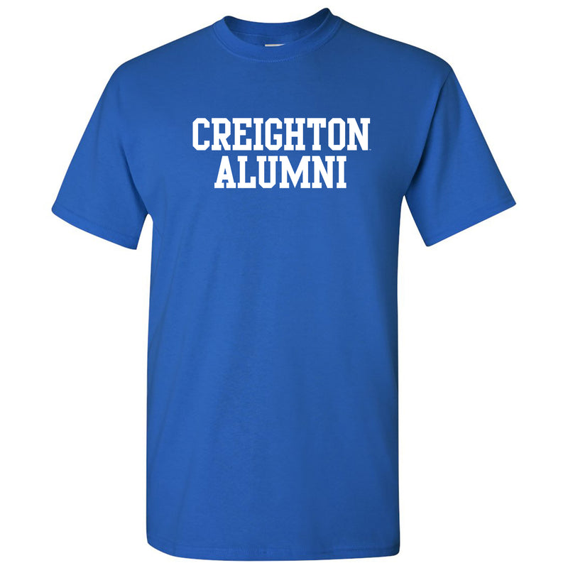 Creighton University Bluejays Basic Block Alumni Short Sleeve T Shirt - Royal