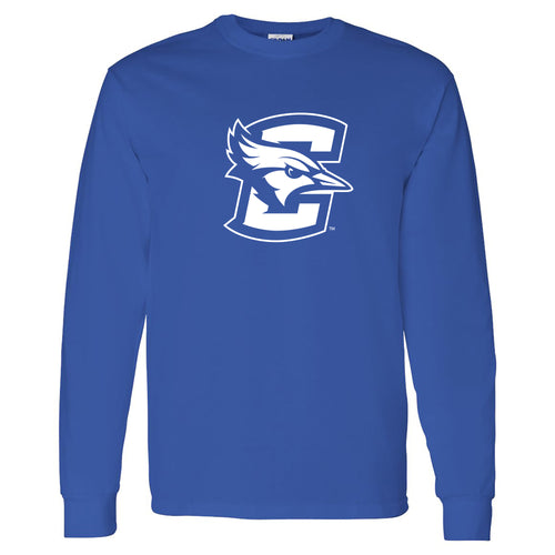 Creighton University Bluejays Primary Logo Long Sleeve T Shirt - Royal