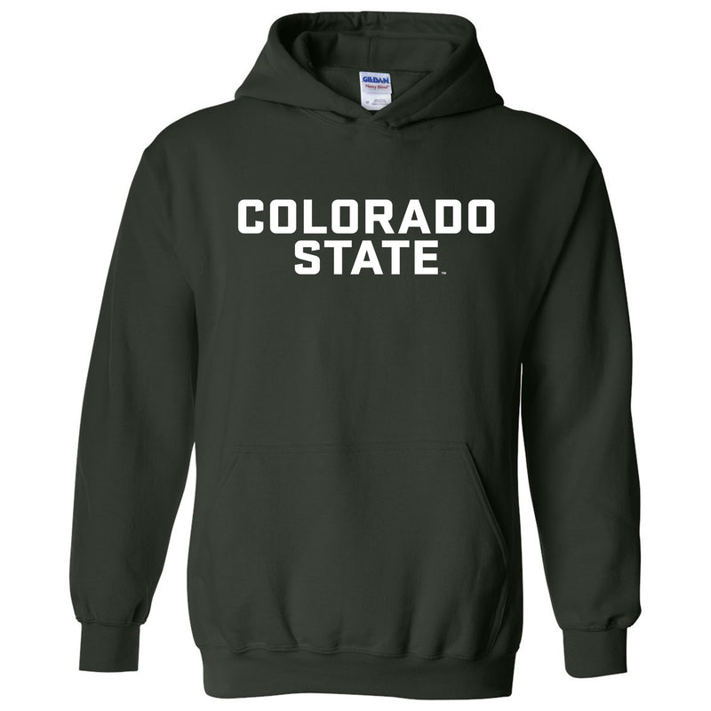 Colorado State University Rams Basic Block Hoodie - Forest