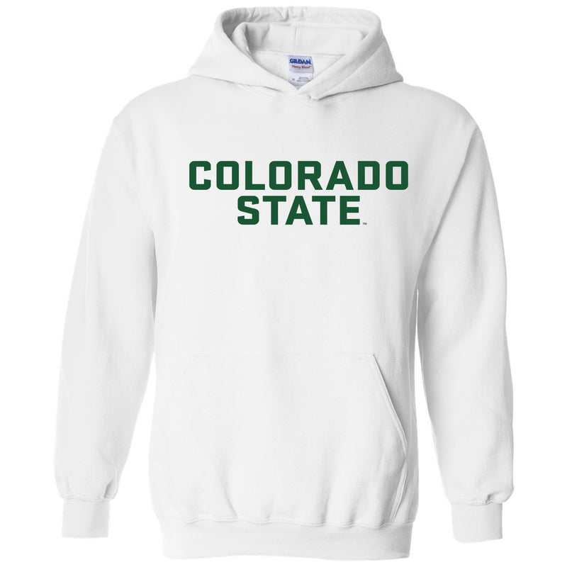 Colorado State University Rams Basic Block Hoodie - White