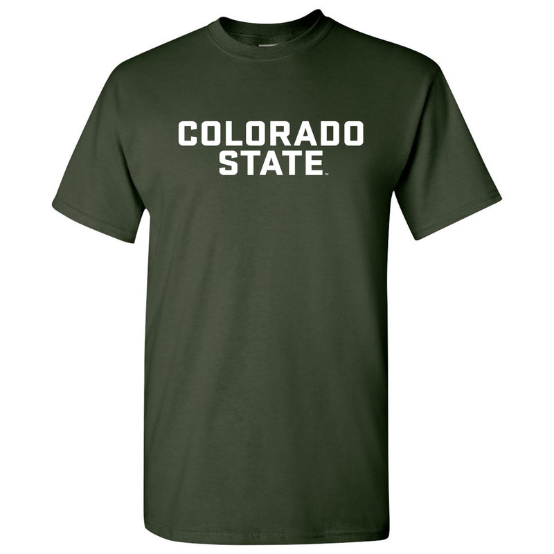 Colorado State Basic Block SS T Shirt - Forest