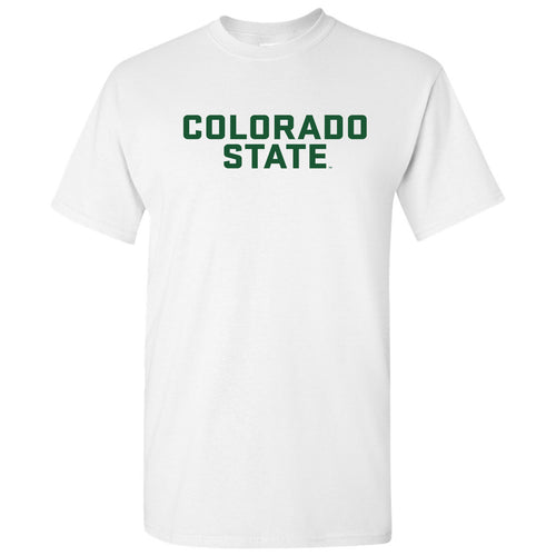 Colorado State University Rams Basic Block Short Sleeve T Shirt - White