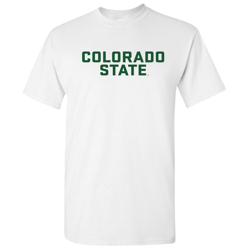 Colorado State Basic Block SS T Shirt - White