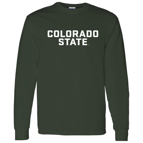 Colorado State University Rams Basic Block Long Sleeve T Shirt - Forest
