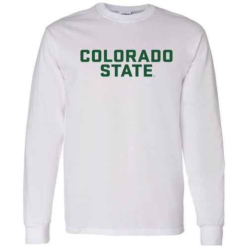 Colorado State University Rams Basic Block Long Sleeve T Shirt - White