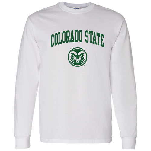 Colorado State University Rams Arch Logo Long Sleeve - White