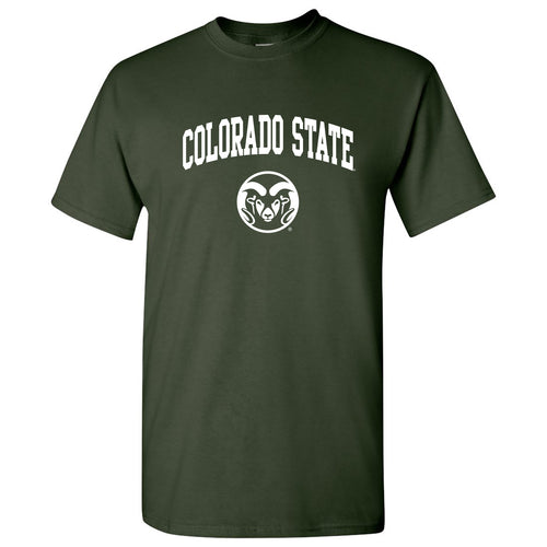 Colorado State University Rams Arch Logo Short Sleeve T Shirt - Forest