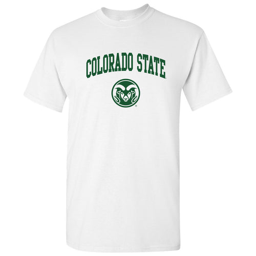 Colorado State University Rams Arch Logo Short Sleeve T Shirt - White