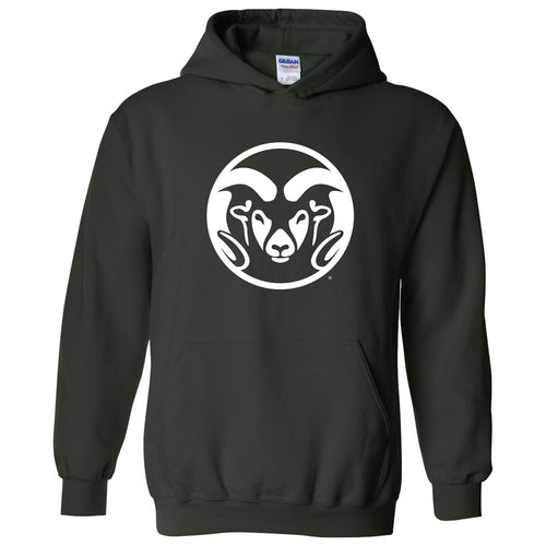 Colorado State University Rams Primary Logo Heavy Blend Hoodie - Forest