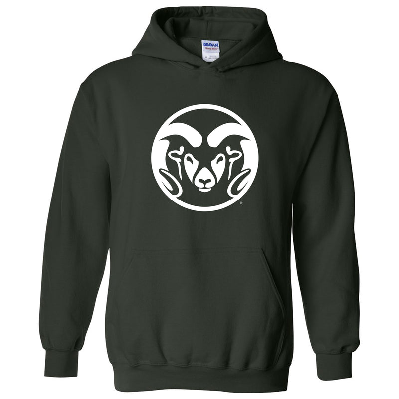 Colorado State University Ram Head Logo Hoodie - Forest
