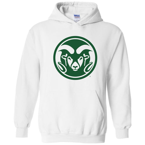 Colorado State University Rams Primary Logo Hoodie - White